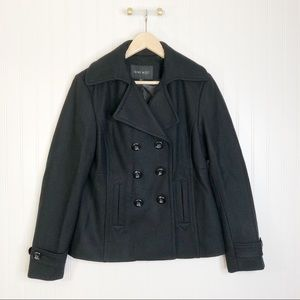 Nine West 8 black pea coat jacket